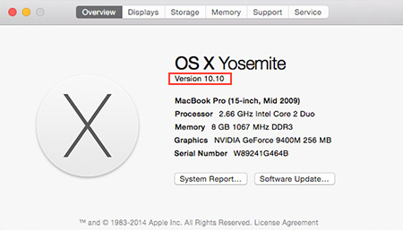 About this Mac - Yosemite
