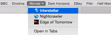 Safari - Favorites Bar Folder