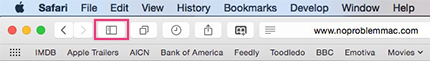 Safari Sidebar Open/Close Button