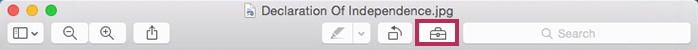 Apple OSX Preview - Annotation-Toolbar