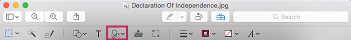 how to add signature to word document on mac