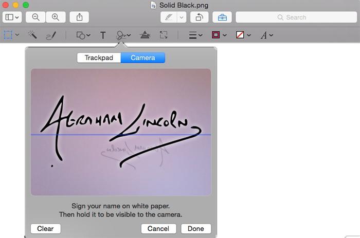 Apple Preview Signature - Camera Signature Capture