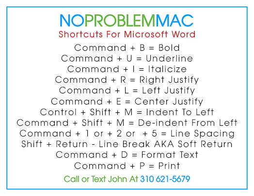 The Good Word    Shortcuts In Microsoft Word For Mac 2011