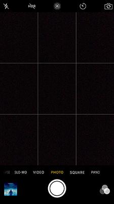iPhone Camera Settings - Grid