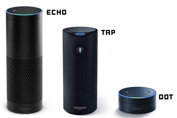 Comparing Amazon Echo, Amazon Tap and Amazon Dot