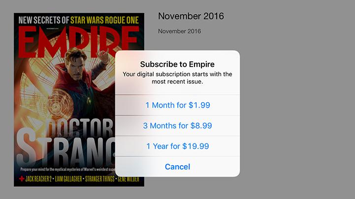 Empire Movie Magazine iPad Cost