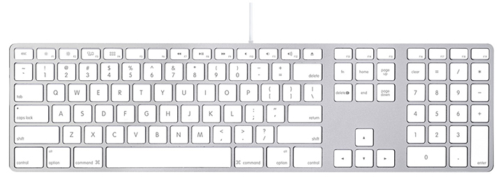 Apple wired keyboard - front