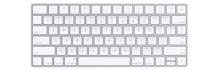 Apple wirless keyboard - front