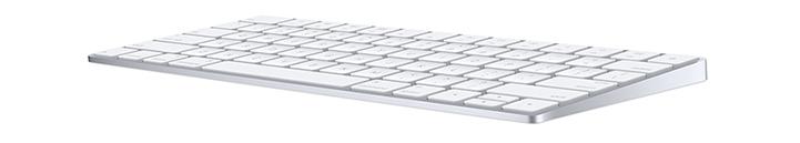 Apple wireless keyboard - side