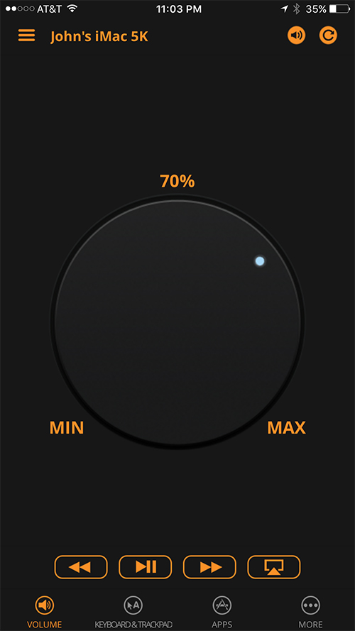 Remote Control App - Volume