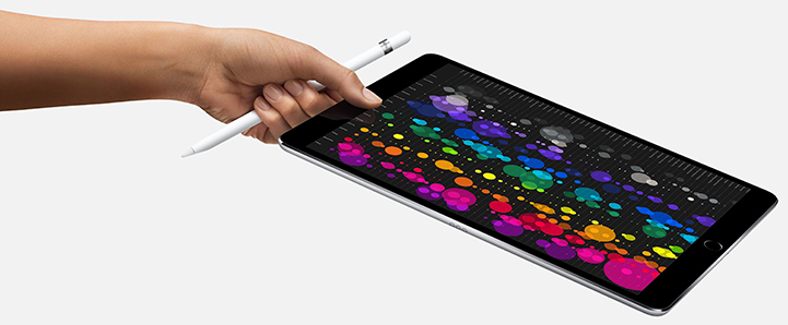 "10.5"" iPad Pro with super bright display"