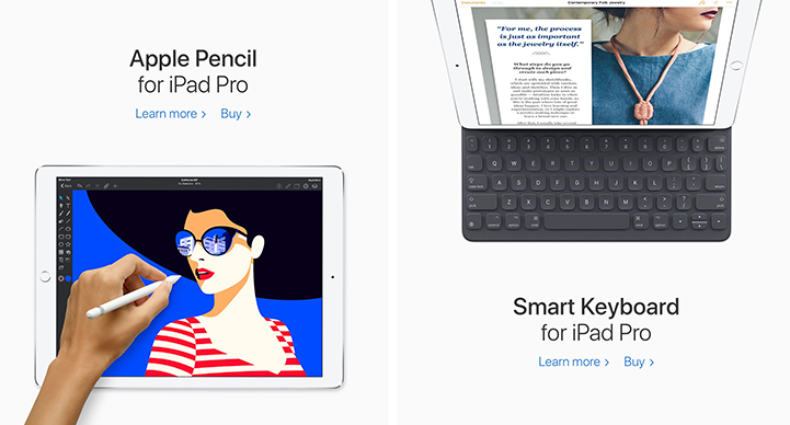 2017 Apple pencil and smart keyboard for the iPad Pro