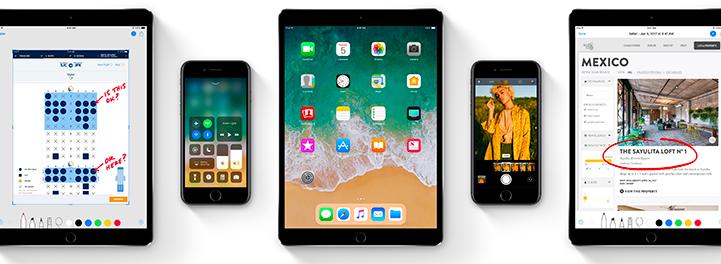 iOS 11 Multi iPad Shot
