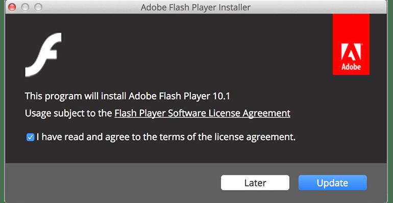 Adobe Flash Clickbait Window