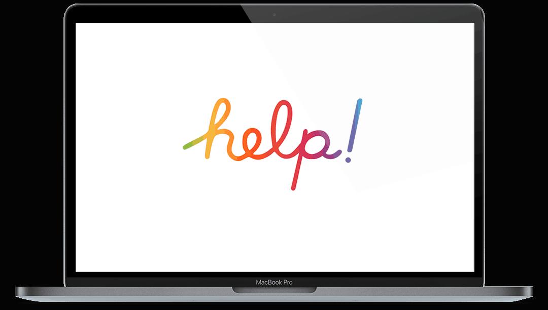 Macbook Pro With Help Screen