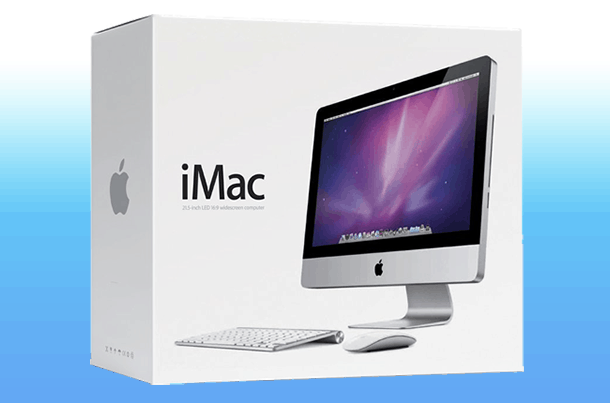 New iMac Box Waiting For Set Up