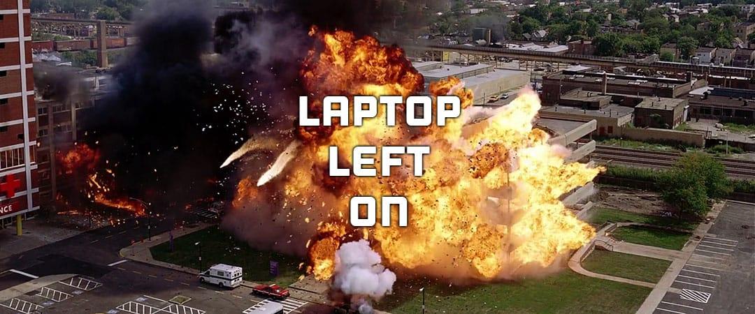Laptop Explodes