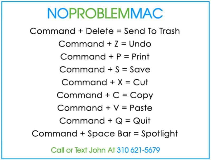 Apple Mac Shortcuts Part 1