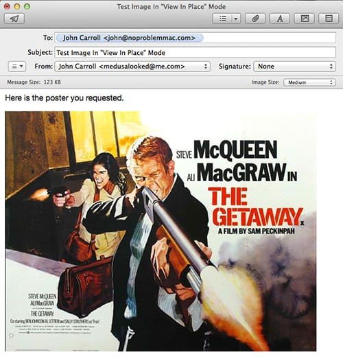 Movie poster as Image in Apple Mail