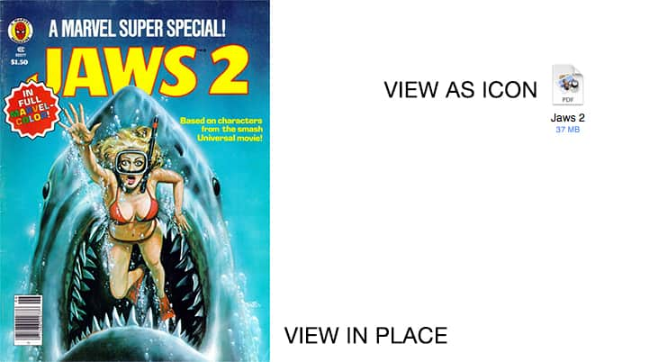 Jaws 2 as image and Icon in Apple Mail