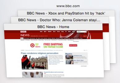 Safari BBC stacked tabs