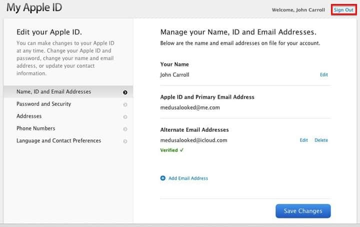 My Apple ID - Manage Information
