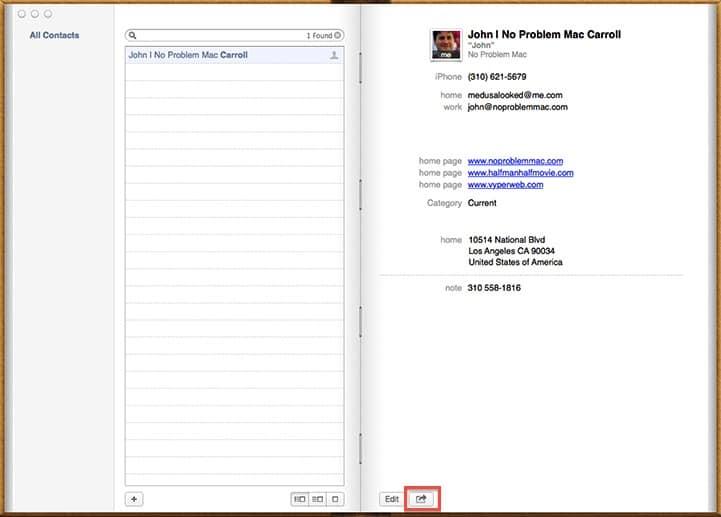 Apple Mac Contacts