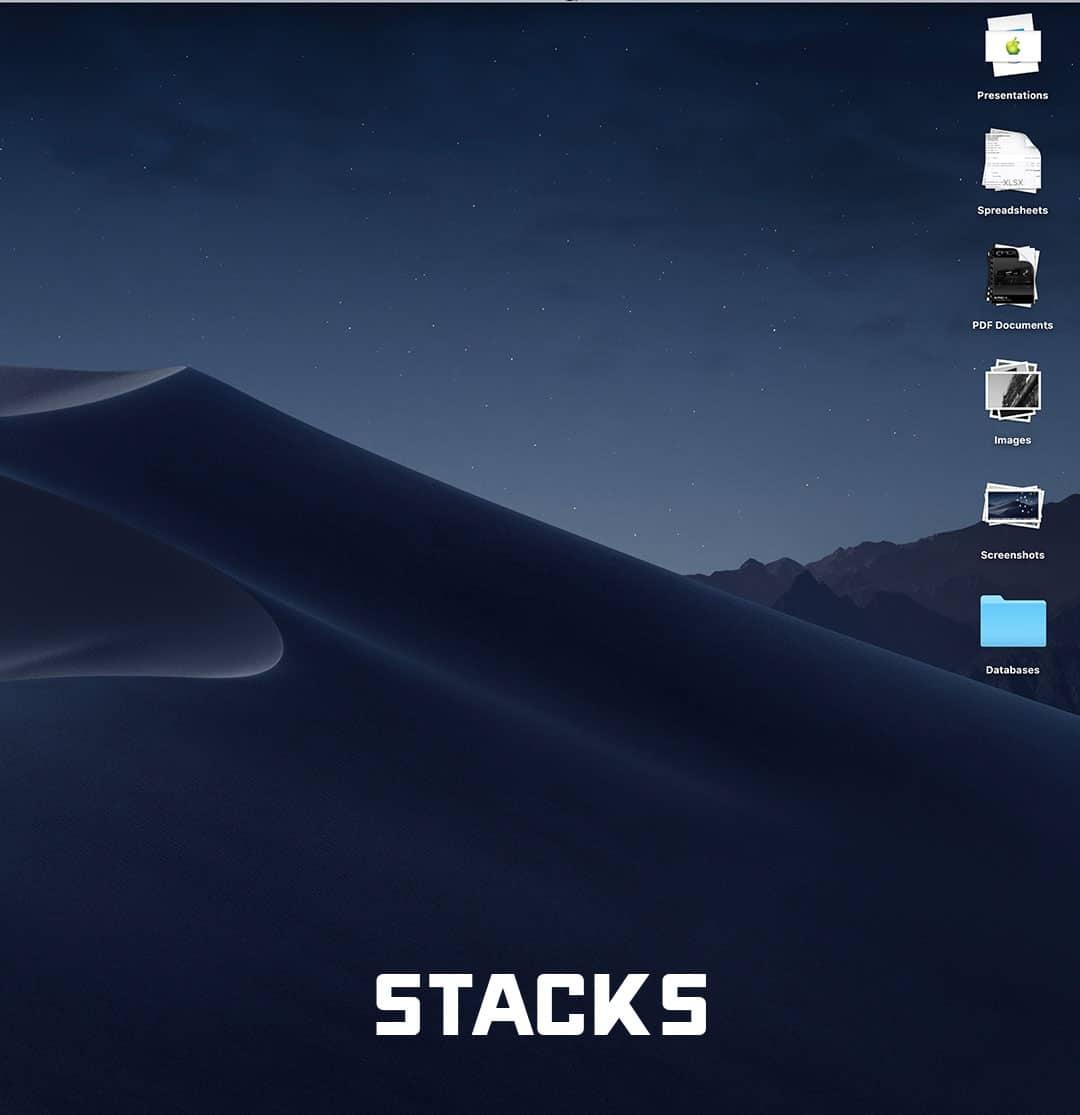 Clean Mac Desktop using Stacks