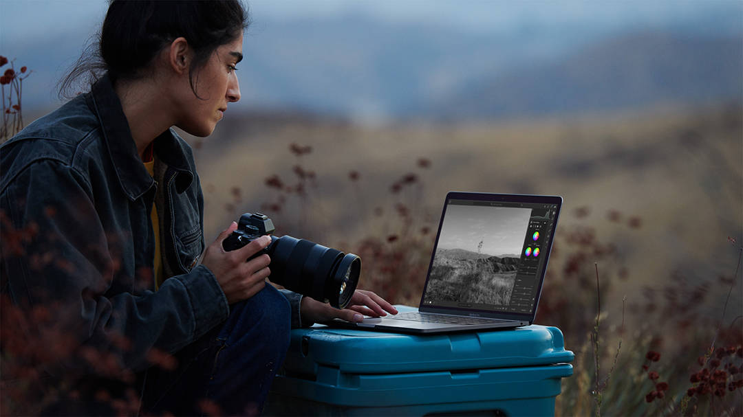 Photographer With New M1 Macbook
