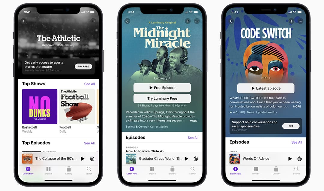 Podcast-subscriptions